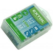 EXTOL ENERGY baterie nabíjecí, 12ks, AAA (HR03), 1,2V, 1000mAh, NiMh 42062