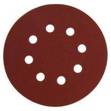 EXTOL PREMIUM papír brusný výsek, suchý zip, bal. 10ks, 8 otvorů, pr.125mm, P240 8803568