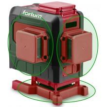 FORTUM laser zelený 3D liniový, křížový samonivelační 4780216
