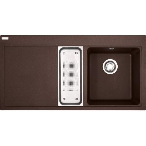 Franke Mythos MTG 651-100/7, 1000x515 mm, fragranitový dřez, tmavě hnědý 114.0250.540