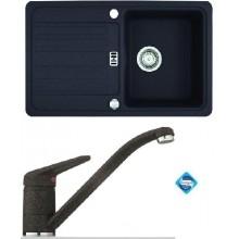 Franke SET G19 granitový dřez EFG 614-78 onyx + dřezová baterie FC 9541.071