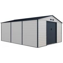G21 Zahradní domek GAH 1300 - 340 x 382 cm, béžovo šedý 6390068