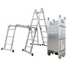 G21 Hliníkové štafle GA-SZ-4x4-4,6M, multifunkční + podlážka 6390463