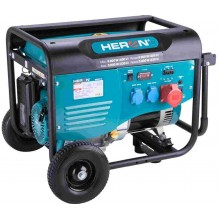 HERON elektrocentrála benzínová 13HP/6,0kW (400V), 2x2,2kW (230V), podvozek 8896412