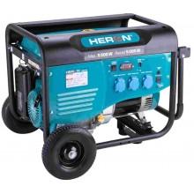 HERON elektrocentrála benzínová 5,5kW/13HP, pro svařování, podvozek 8896413
