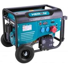 HERON elektrocentrála benzínová 13HP/6,0kW (400V), 2x2,2kW (230V), elektrický start, podvozek 8896414