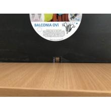 VÝPRODEJ PLASTKON Balkónový květináč Balconia OVI na zábradlí 60 cm antracit POŠKOZENO