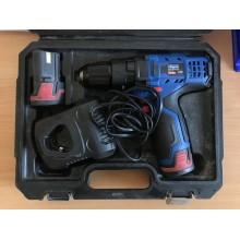 VÝPRODEJ SCHEPPACH CID27-12Li - aku 12V vrtací šroubovák s příklepem + 2x baterie 2 Ah + nabíječka + kufr 5909201900, Po servisu - výměna motoru PO SERVISU, FUNKČNÍ!!!!