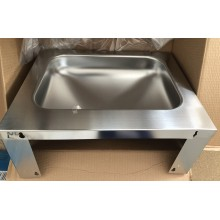 VÝPRODEJ FRANKE ANIMA Umyvadlo 500x200x402 mm, bez otvoru pro baterii, chromniklovaná ocel, NARAŽENÝ ROH