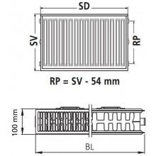 VÝPRODEJ Kermi Therm X2 Profil-Kompakt deskový radiátor 22 600 / 1600 FK0220616 POŠKOZENÝ OBAL!!!