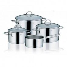 KELA Nerezová sada nádobí 7 ks CAILIN, lesklý povrch KL-10969