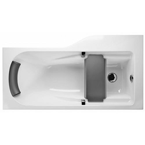KOLO Comfort Plus asymetrická vana 170 x 75 cm, levá, s madly, podhlavníkem, sedátkem XWA1471