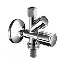 """SCHELL COMFORT Kombinovaný rohový ventil, chrom 1/2""""x3/4""""x3/8"""" 035510699"""