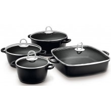 LAMART LT1168 Sada nádobí 8ks černá, CAST 42003196