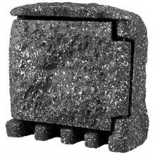PANLUX STONE 2ZT zahradní elektro-kámen (2x zásuvka1x časovač,s přívodním kabelem)-šedá PN42000003