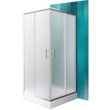 ROLTECHNIK Čtvercový sprchový kout s dvoudílnými posuvnými dveřmi ORLANDO NEO/800 brillant/matt glass N0654
