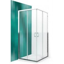 ROLTECHNIK Čtvercový sprchový kout s dvoudílnými posuvnými dveřmi LLS2/900 brillant/transparent 554-9000000-00-02