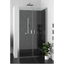 ROLTECHNIK Dvoukřídlé sprchové dveře pro instalaci do niky LZCN2/1000 brillant/transparent 230-1000000-00-02