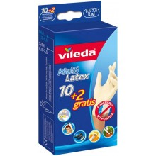 VILEDA Rukavice Multi Latex 10+2ks S/M 145964