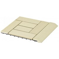 WPC Přechodová lišta pro dlaždice G21 Cumaru, 30 x 75 cm rovná 63910066