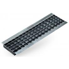 ACO Drain N100 - B125 rošt mřížkový 1,0 m, pozinkovaná ocel 06305