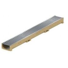 ACO EuroSelf mini žlab 1 m, H=6 cm, pozinkovaný můstkový rošt 416922