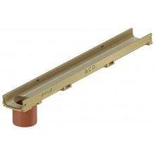 ACO EuroSelf mini žlab 1 m, H=5,5 cm, se spodním odtokem DN/OD 110, bez roštu 810010