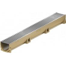 ACO EuroSelf žlab 1 m, H=10 cm, pozinkovaný můstkový rošt 38700