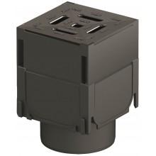 ACO HexaSelf Brickslot rohový díl plastový, s plastovým roštem, černý 319560