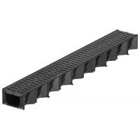ACO Hexaself 1m černý žlab, černý plastový rošt 319210