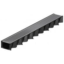 ACO HexaSelf žlab 1 m plastový, černý, pozinkovaný rošt 319213