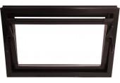 ACO sklepní celoplastové okno s IZO sklem 40 x 40 cm hnědá