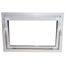 ACO sklepní celoplastové okno s IZO sklem 60 x 40 cm bílá