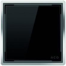 ACO ShowerPoint designový kryt bez vzoru, černý 5141.38.01