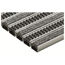 ACO rohožka s plstěnou výplní a kazetovými kartáči 60x40cm, šedá hliník. profily 10702