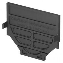 ACO Self kombinovaná čelní stěna pro začátek a konec žlabu, plastová, černá 319288