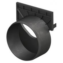 ACO Self čelní stěna s odtokem DN/OD 110, plastová, černá 319289