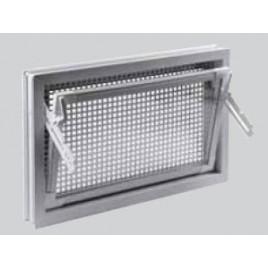 ACO Markant víceúčelové plastové okno s mřížkou proti hlodavcům 60 x 40 cm hnědé F2102