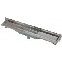 ALCAPLAST Flexible Low podlahový žlab 850 mm s okrajem pro perforovaný rošt APZ1104-850