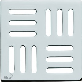 ALCAPLAST Designová mřížka 102 × 102 × 5 nerez MPV001