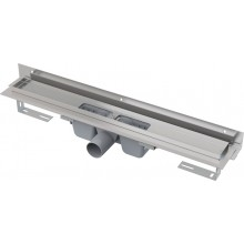 ALCAPLAST Flexible Podlahový žlab 850 mm pro perforovaný rošt ke stěně APZ4-850
