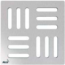 ALCAPLAST Mřížka pro nerezové vpusti 102×102 mm nerez MPV011