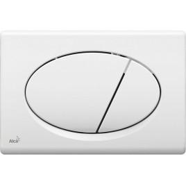 ALCAPLAST - ovládací tlačítko bílé k splachovacím nádržkám M70