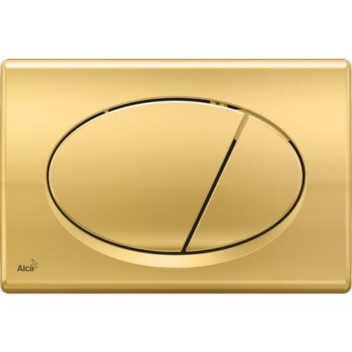 ALCAPLAST Ovládací tlačítko splachovací M75 pro předstěnové instalační systémy (zlaté)