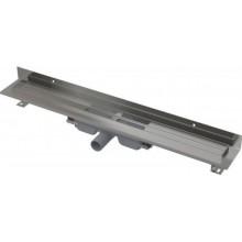 ALCAPLAST Wall Low Podlahový žlab s okrajem pro plný rošt 950mm, s pevným límcem ke stěně APZ116-950