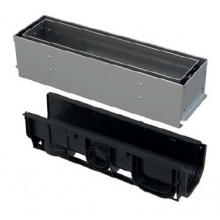 ALCAPLAST Štěrbinový venkovní žlab asymetrický revizní díl 100 mm z pozinkované oceli AVZ101S-R121R