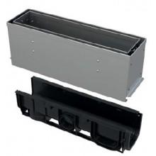 ALCAPLAST Štěrbinový venkovní žlab asymetrický revizní díl 160 mm z nerezu AVZ101S-R322R