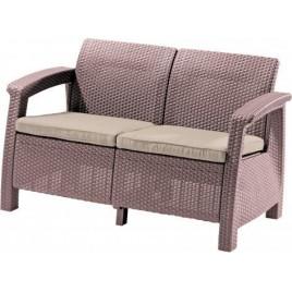 ALLIBERT CORFU LOVE Seat pohovka, capuccino/písková 17197359