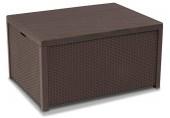 ALLIBERT ARICA stolek hnědý, 79 x 59 x 42 cm, umělý ratan 17200570