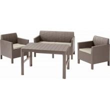 ALLIBERT ORLANDO + LYON TABLE Set zahradní, cappuccino/písková 17204944